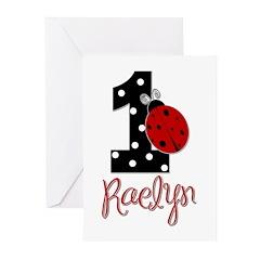 1 Ladybug RAELYN - Custom Greeting Cards (Pk of 10