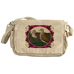 Dove Nest and Flowers Messenger Bag
