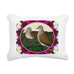 Dove Nest and Flowers Rectangular Canvas Pillow