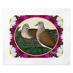 Dove Nest and Flowers King Duvet