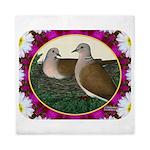 Dove Nest and Flowers Queen Duvet