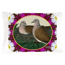 Dove Nest and Flowers Pillow Case