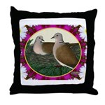 Dove Nest and Flowers Throw Pillow