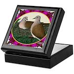 Dove Nest and Flowers Keepsake Box