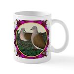 Dove Nest and Flowers Mug