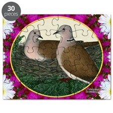 Dove Nest and Flowers Puzzle