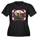 Dove Nest and Flowers Plus Size T-Shirt