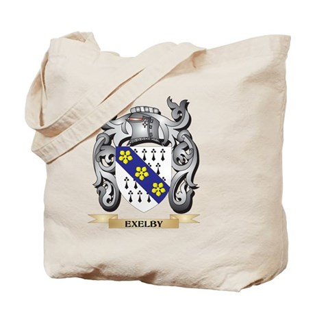 Exelby Coat of Arms - Family Crest Tote Bag