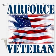 Airforce Veteran copy Shower Curtain