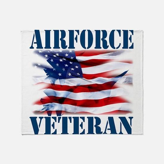 Airforce Veteran copy Throw Blanket