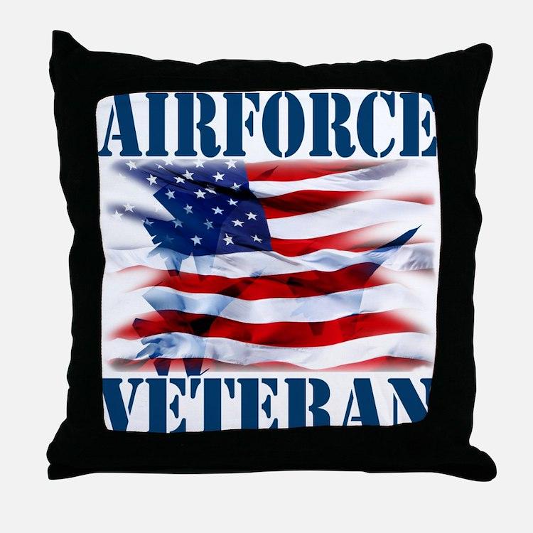 Airforce Veteran copy Throw Pillow