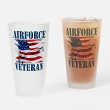 Airforce Veteran copy Drinking Glass