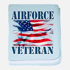 Airforce Veteran copy baby blanket