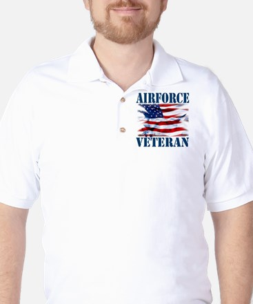 Airforce Veteran copy Golf Shirt