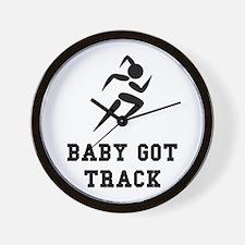 Baby Got Track Wall Clock
