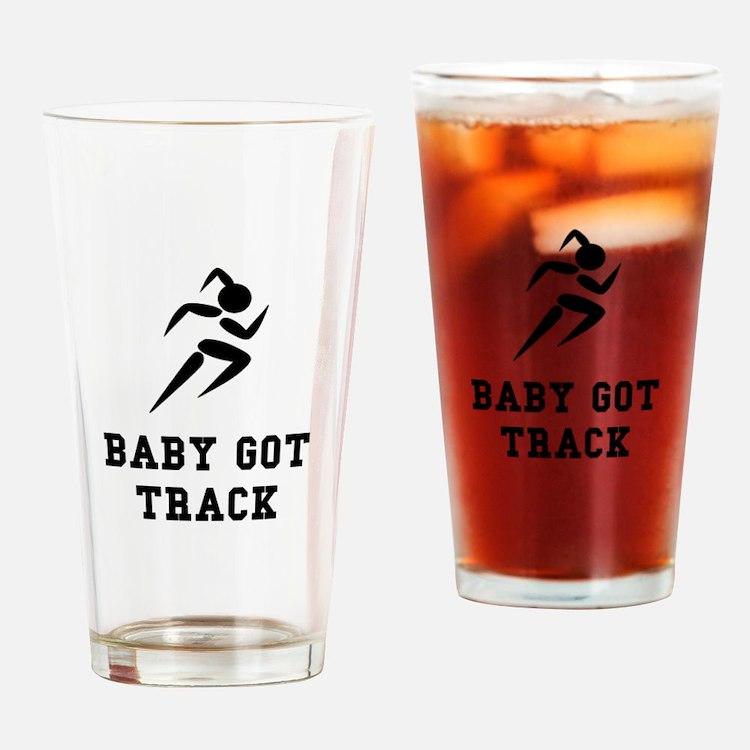 Baby Got Track Drinking Glass