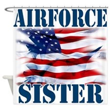 Airforce Sister Shower Curtain
