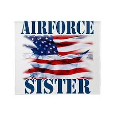 Airforce Sister Throw Blanket