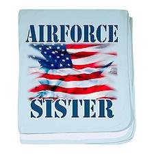Airforce Sister baby blanket