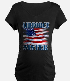 Airforce Sister Maternity T-Shirt