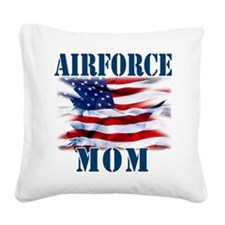 Airforce Mom Square Canvas Pillow