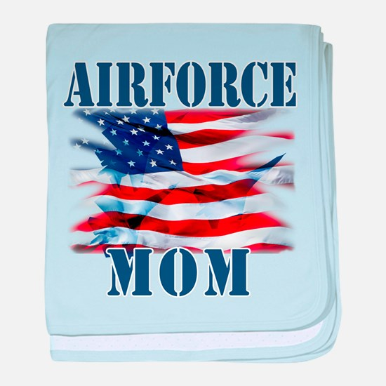 Airforce Mom baby blanket