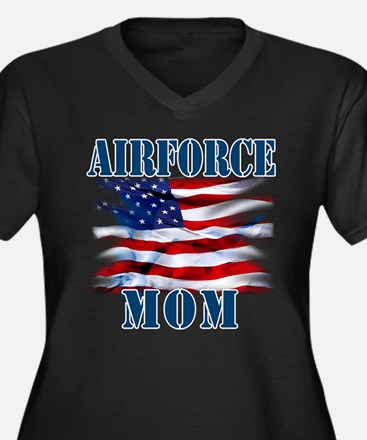 Airforce Mom Plus Size T-Shirt