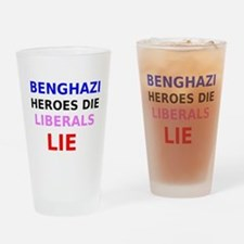 Benghazi Heroes Die Liberals Lie Drinking Glass