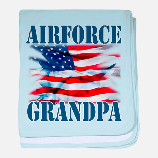Airforce Grandpa baby blanket
