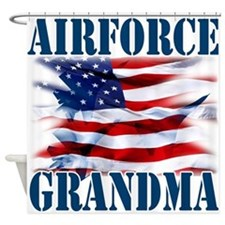 Airforce Grandma Shower Curtain