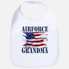 Airforce Grandma Bib