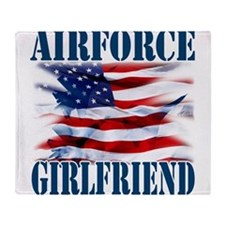 Airforce Girlfriend Throw Blanket