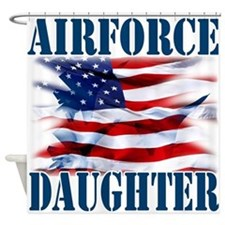 Airforce Daughter Shower Curtain
