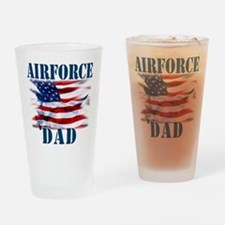 Airforce Dad Drinking Glass