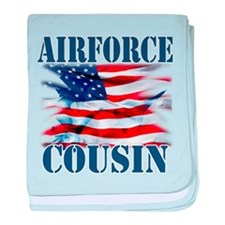 Airforce Cousin baby blanket