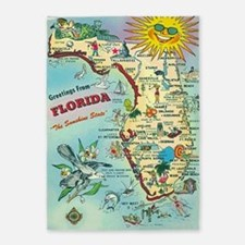 Vintage Greetings From Florida 5'x7'area Rug