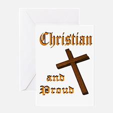 PROUD CHRISTIAN Greeting Card