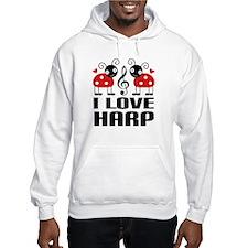 I Love Harp Ladybug Hoodie
