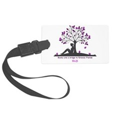 Books are a Bridge Pink/Purple Luggage Tag