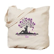 Books are a Bridge Pink/Purple Tote Bag