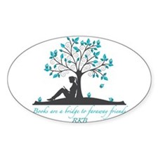 Books are a Bridge in Teal with Fancy Font Decal