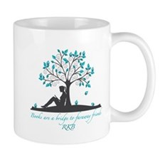 Books are a Bridge in Teal with Fancy Font Mug