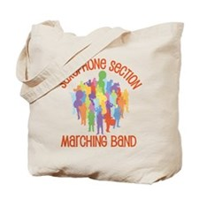Saxophone Band Collage Tote Bag