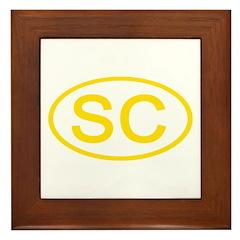 SC Oval - South Carolina Framed Tile