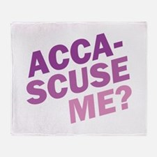 Acca-Scuse Me? Throw Blanket