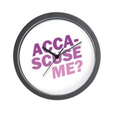 Acca-Scuse Me? Wall Clock