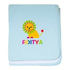 Aditya Loves Lions baby blanket