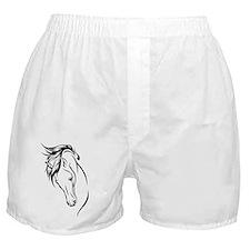 Line Drawn Horse Head Boxer Shorts