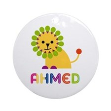 Ahmed Loves Lions Ornament (Round)