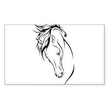Line Drawn Horse Head Decal